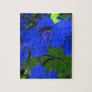 Brilliant Blue Delphinium Puzzle