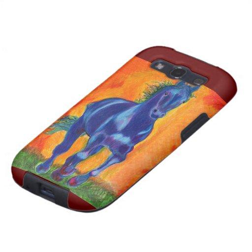 Brilliant Blue Horse Galaxy SIII Cover