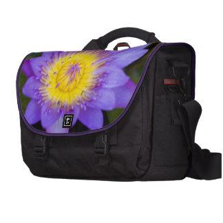 Brilliant Blue Lily Pad Bloom photo Laptop Commuter Bag