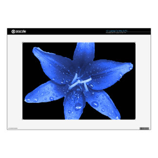 Brilliant Blue Lily Laptop Decals