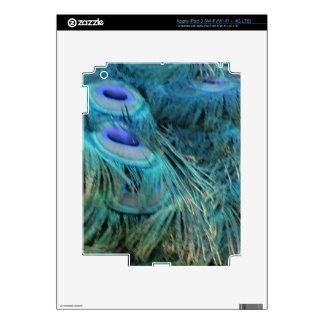Brilliant Blue Peacock Feathers Skin For iPad 3