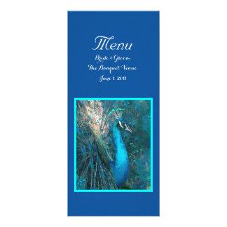 Brilliant Blue Peacock Wedding Menu