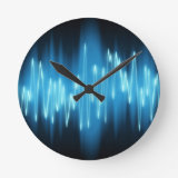 clock with soundwave