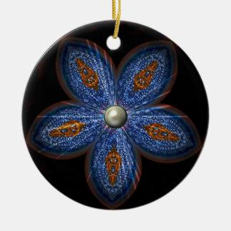 Brilliant Blues Batik Ceramic Ornament