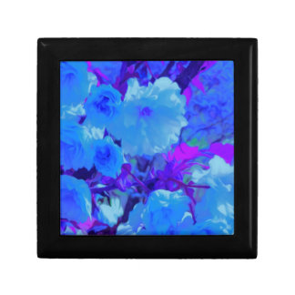 Brilliant Bright Blue Flowers with Fushia Gift Box