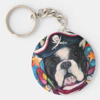 Brilliant Bulldog Basic Round Button Keychain