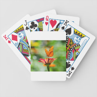 Brilliant Butterfly on Bright Orange Gerber Daisy Bicycle Playing Cards