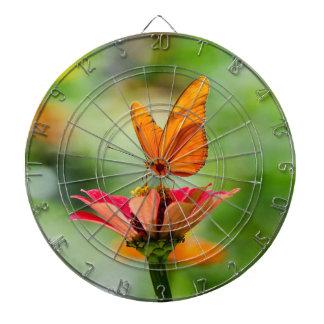 Brilliant Butterfly on Bright Orange Gerber Daisy Dart Board
