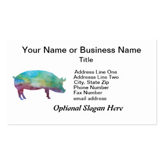 Brilliant Color-washed Pigs Double-Sided Standard Business Cards (Pack Of 100)