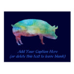 Brilliant Color-washed Pigs Post Card