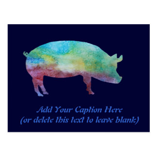 Brilliant Color-washed Pigs Postcard
