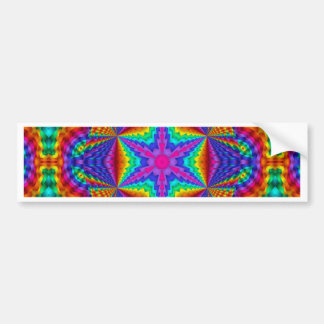 Brilliant Colored Ribbon Kaleidoscopic Design Bumper Sticker