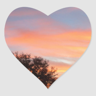 brilliant colored Sunset Oct sky Heart Sticker