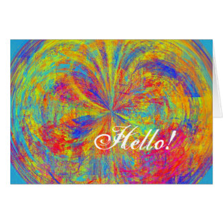 Brilliant Colors Abstract Card