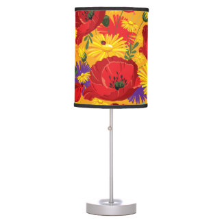 Brilliant Colors Poppies and Daisies Desk Lamp