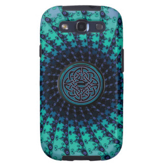 Brilliant Cool Hued Celtic Fractal Spiral Samsung Galaxy S3 Case