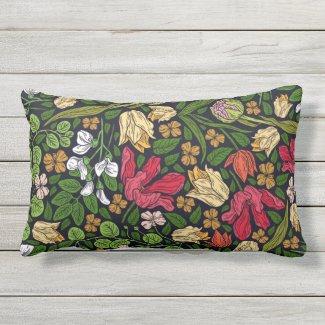 Brilliant Country Print Outdoor Lumbar Pillow