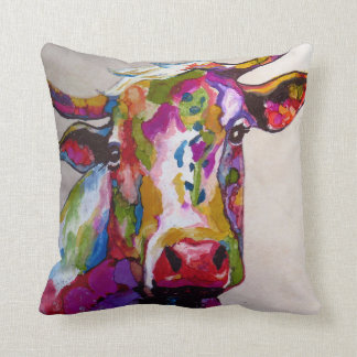 Brilliant Cow Throw Pillow