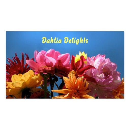 Brilliant Dahlias Business Card Template