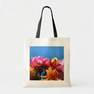 Brilliant Dahlias Tote Bag