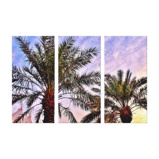 Brilliant Date Trees Canvas Print