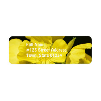 Brilliant Evening Primrose Return Address Label