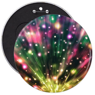 Brilliant Fireworks Round Button