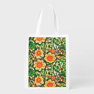 Brilliant Floral Reusable Grocery Bag