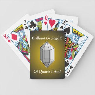 Brilliant Geologist Quartz Pun Playing Cards
