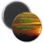 Brilliant Glow - Peace 2 Inch Round Magnet