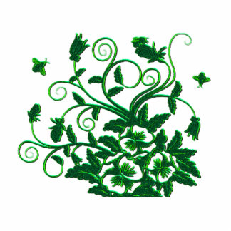 Brilliant Green Bees and Butterflies Floral Cutout