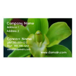 Brilliant Green Orchid Business Card Template