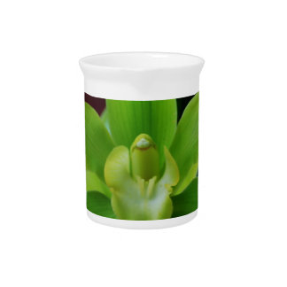 Brilliant Green Orchid Drink Pitchers