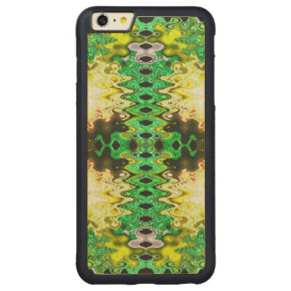 Brilliant Green Yellow Abstract Carved® Maple iPhone 6 Plus Bumper