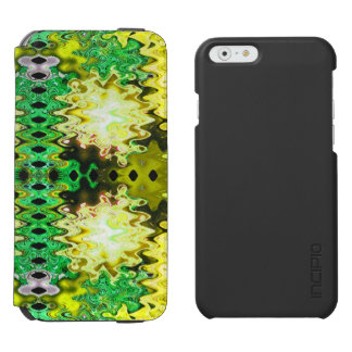Brilliant Green Yellow Abstract iPhone 6/6s Wallet Case