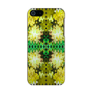Brilliant Green Yellow Abstract Metallic Phone Case For iPhone SE/5/5s