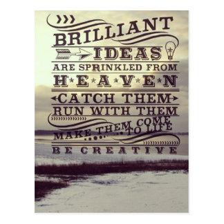 Brilliant Idea From Heaven Be Creative Frozen Lake Postcard