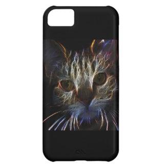 Brilliant Kitty Cat Shiny Fire Fractal Art iPhone 5C Cases