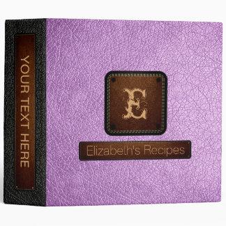 Brilliant Lavender Leather Elegant Monogram Binders