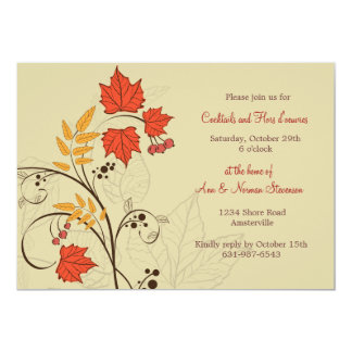 Brilliant Leaves Invitation