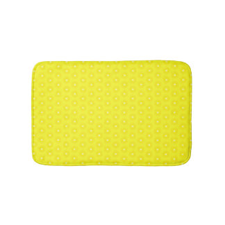 Brilliant Lemon Yellow Sunshine Stars Pattern Bathroom Mat