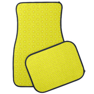 Brilliant Lemon Yellow Sunshine Stars Pattern Car Floor Mat