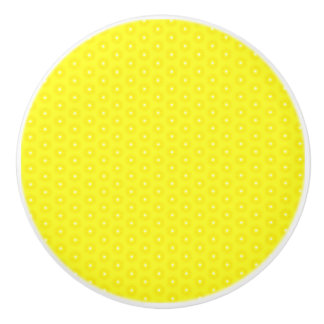 Brilliant Lemon Yellow Sunshine Stars Pattern Ceramic Knob