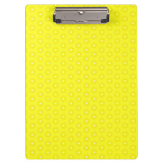 Brilliant Lemon Yellow Sunshine Stars Pattern Clipboard