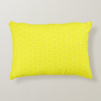 Brilliant Lemon Yellow Sunshine Stars Pattern Decorative Pillow