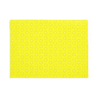 Brilliant Lemon Yellow Sunshine Stars Pattern Doormat