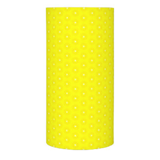 Brilliant Lemon Yellow Sunshine Stars Pattern Flameless Candle