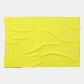Brilliant Lemon Yellow Sunshine Stars Pattern Kitchen Towel