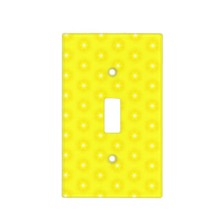 Brilliant Lemon Yellow Sunshine Stars Pattern Light Switch Cover