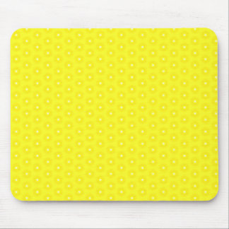 Brilliant Lemon Yellow Sunshine Stars Pattern Mouse Pad